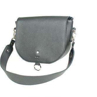 Женская кожаная сумка Ruby L черная флотар