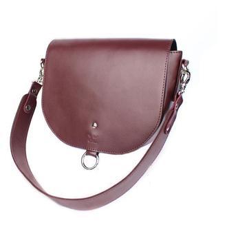 Женская кожаная сумка Ruby L бордовая