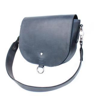 Женская кожаная сумка Ruby L синяя винтажная