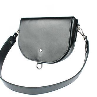 Женская кожаная сумка Ruby L черная