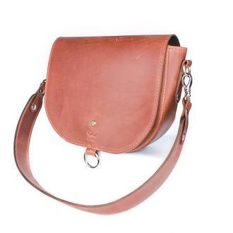 Женская кожаная сумка Ruby L светло-коричневая винтажная