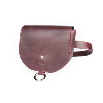 Женская кожаная сумка Ruby S бордовая винтажная