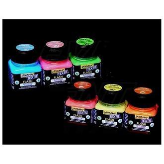 Краска по светлым тканям флуоресцентная Javana Flash,  20 мл