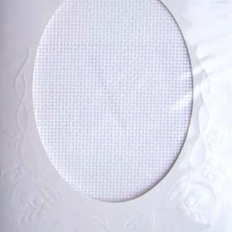 Набор для вышитой открытки (паспарту и канва), белая