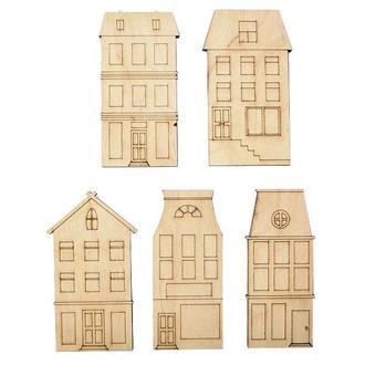 Набор заготовок Голландские домики, 5 шт, фанера