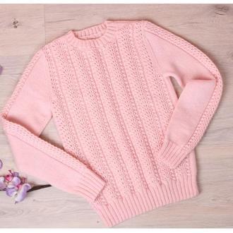 Ажурный свитер с ангоры