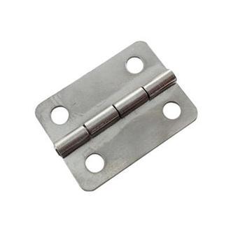 Петля врезная 24х19мм серебро, 2 шт.