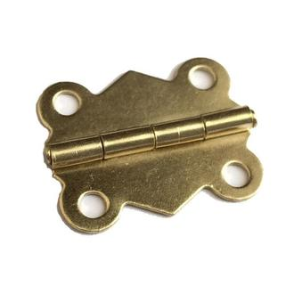 Петля накладная 25х20 мм золото, 2 шт.