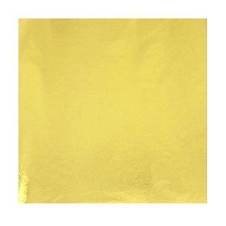 Поталь в листах 14х14 см, яркое золото 25 листов
