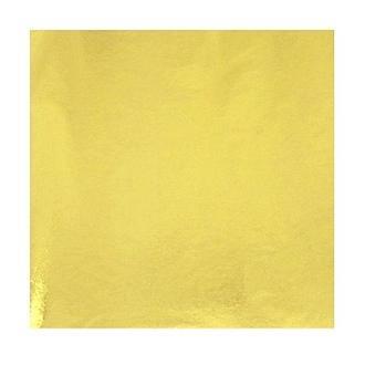 Поталь в листах 14х14 см, яркое золото 100 листов