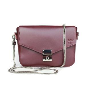 Женская кожаная сумочка Yoko бордовая