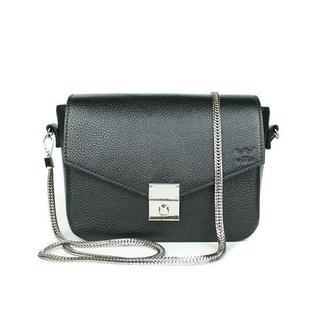 Женская кожаная сумочка Yoko черная флотар