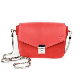 Женская кожаная сумочка Yoko красная винтажная
