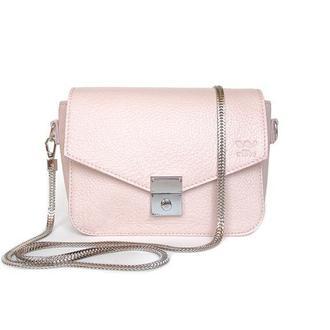 Женская кожаная сумочка Yoko пудровая
