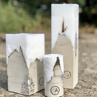 Набор свечей с бетоном