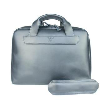 Кожаная деловая сумка Attache Briefcase синий