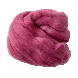 Шерсть австралийского мериноса 25 гр № 51А красно-фиолетовый