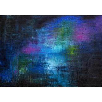 Картина абстракция 100Х70 холст, акрил