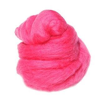 Шерсть австралийского мериноса 25 гр, №65 розовый темный
