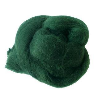 Шерсть австралийского мериноса 25 гр, №26 зеленый мох