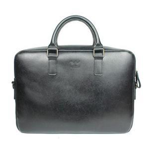 Кожаная деловая сумка Briefcase 2.0 черный сафьян