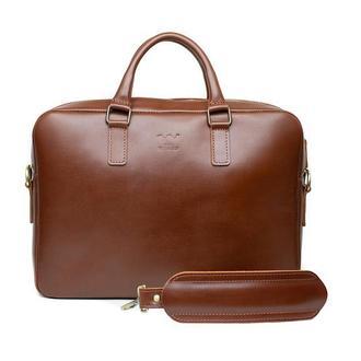Кожаная деловая сумка Briefcase 2.0 светло-коричневый
