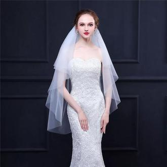 Двуярусная свадебная фата