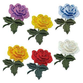 Аппликации на одежду Embroidery клеевые розы набор №10 (68619)