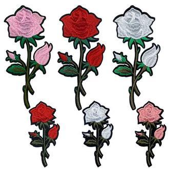 Аппликации на одежду Embroidery клеевые розы набор №4 (68613)