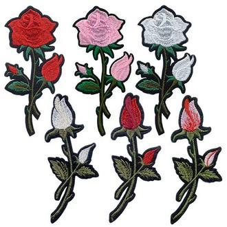 Аппликации на одежду Embroidery клеевые розы набор №5 (68614)