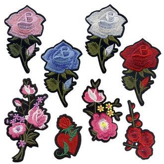Аппликации на одежду Embroidery клеевые розы набор №6 (68615)