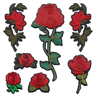 Аппликации на одежду Embroidery клеевые цветы набор №1 (68610)