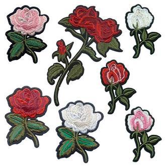 Аппликации на одежду Embroidery клеевые цветы набор №2 (68611)