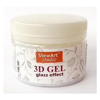 Прозрачный структурный гель 3D Glass Effect Gel, 150 мл