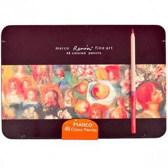 Набор цветных художественных карандашей Marco Renoir 48 цв, мет. кор.