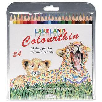 Набор цветных карандашей Lakeland ColourThin, 24 цв.