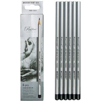 Набор графитных карандашей Marco Raffine (НВ-8В), 6 шт. картон