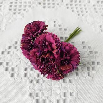 Хризантема тканевая Ø 35-40 мм. 6 шт