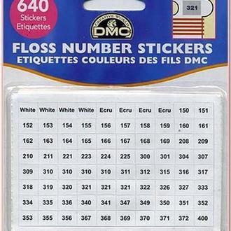 Наклейки с номерами ниток для хранения мулине