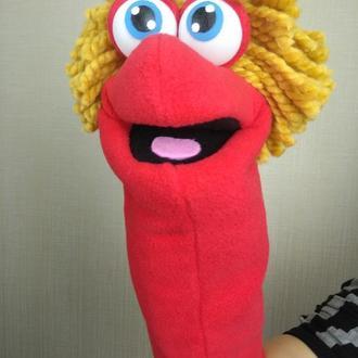 Чапа кукла на руку с открывающимся ртом