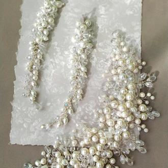 Веточка и серьги для невесты