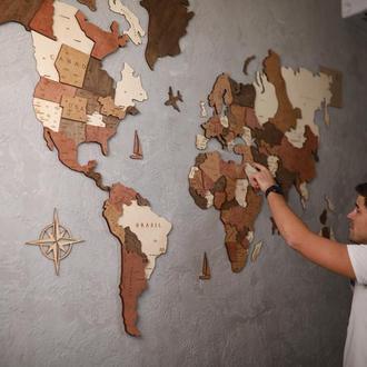 Карта мира на стену многослойная карта мира со странами
