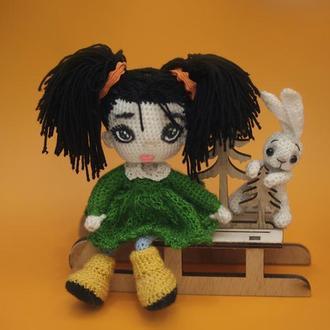 Кукла Глаша с зайчиком