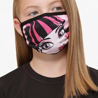 Детская текстильная маска с рисунком на резинке для девочки