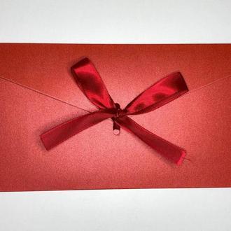 Подарочный Конверт - Красный