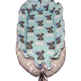 It's a boy Кокон-гнездышко для новорожденных 0-18 мес. Kuzya Production