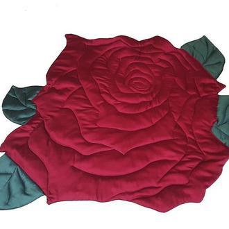 Детский игровой коврик в форме цветка розы Kuzya Production