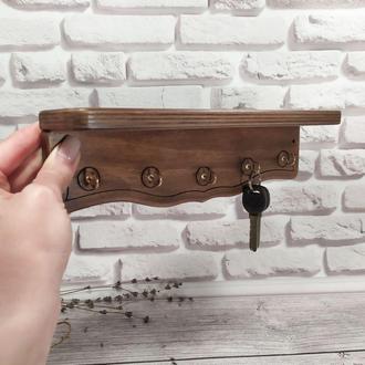 Настенная ключница с полочкой для 5-ти связок ключей