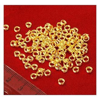 Кольца в два витка 4 мм, 10 гр., золото