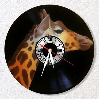 """Эксклюзивные виниловые настенные часы """"Жираф"""" - классный подарок для себя и своих близких."""